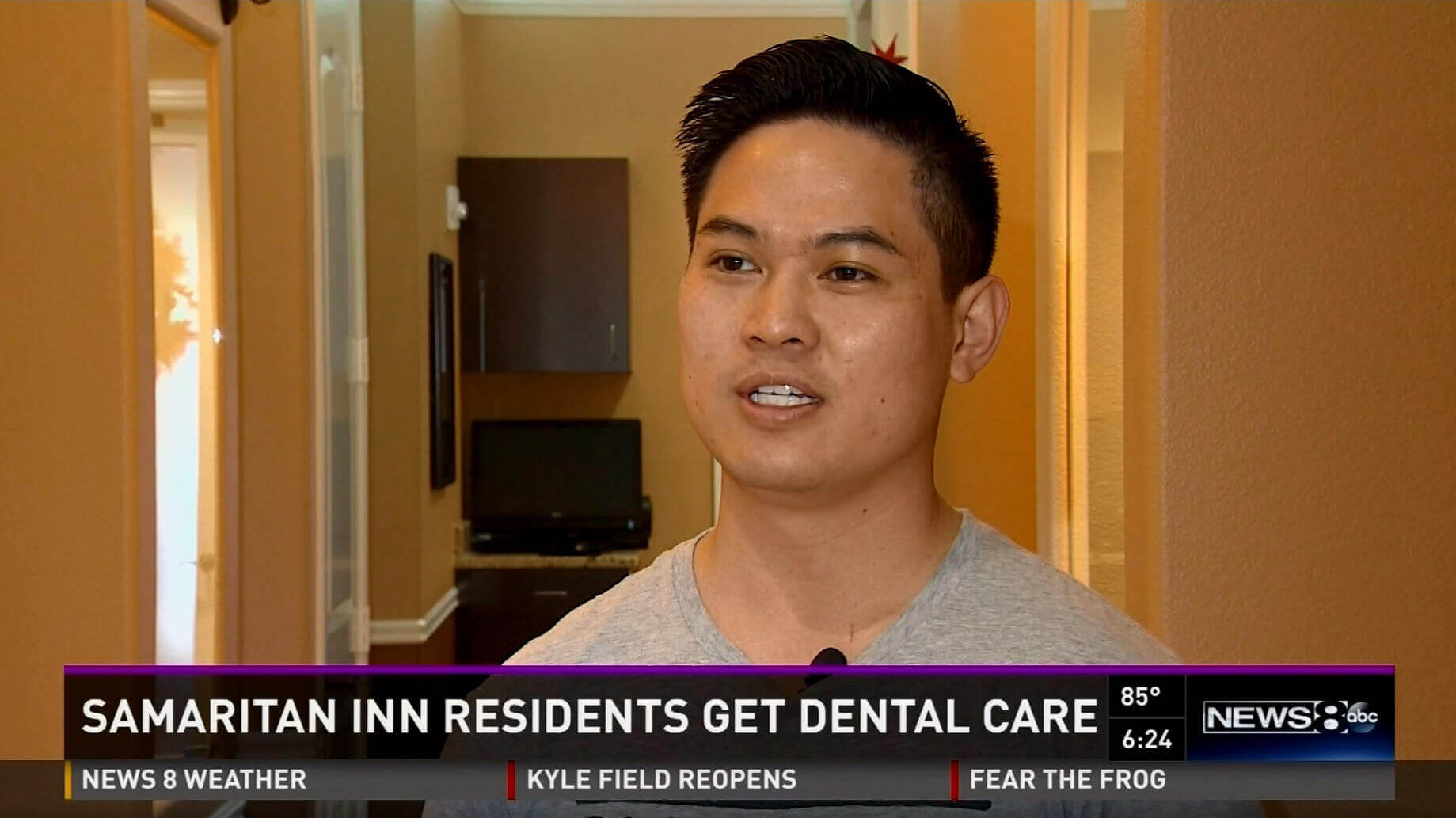 Dental care story on the news