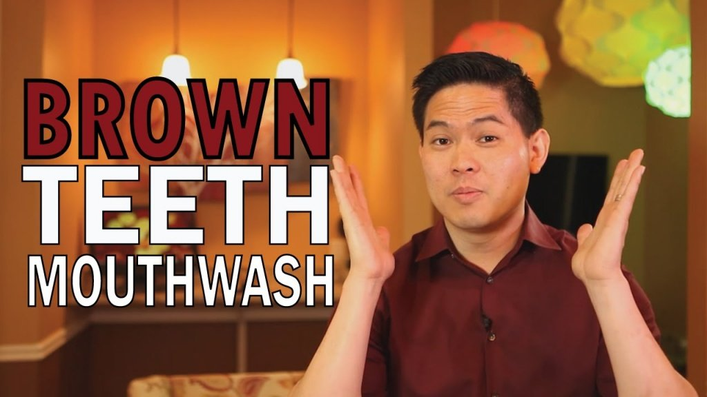 Brown teeth and mouth wash